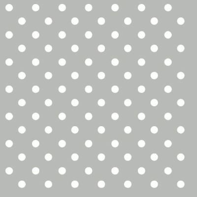 "Grey White Polka Dot 3-Ply 20 Paper Napkins Serviettes 13"" X 13"" - 33 X 33Cm"
