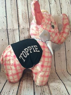 Vintage Doll TOPPIE Elephant Top Value Stamps Plush Stuffed Animal EUC