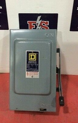 Square D Safety Switch HU361 30 Amp 600 Volt Non Fusible