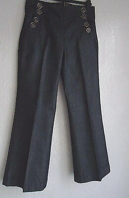 1940's WWII Vintage Style Wide Leg  Trousers Size 12