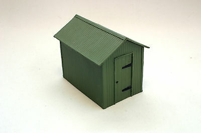 Trackside Models resin cast O gauge corrugated shed.