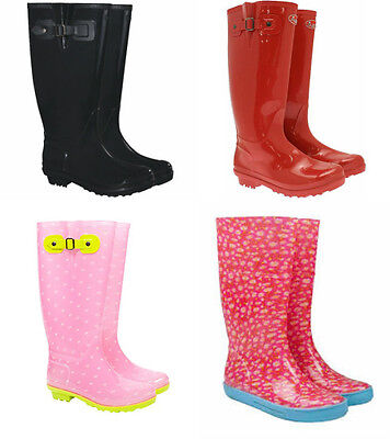 Briers Ladies Clasic Range Wellington Boots - Red Black or Daisy- Sizes 4 to 8