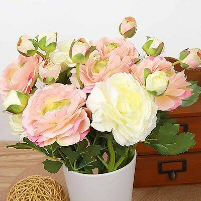 Artificial Silk Rose Bridal Wedding Party Flowers Floral Decor Home Craft