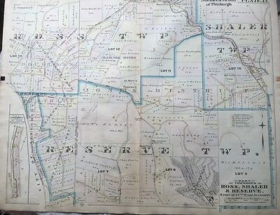 Orig 1906 G.m. Hopkins North Pittsburgh Ross Shaler & Reserve Twps Pa. Atlas Map
