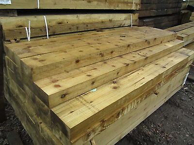 New Railway sleepers 2.4m Tanalized Green