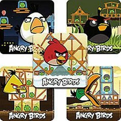 15 ANGRY BIRDS Stickers Kids Party Supplies Party Favors
