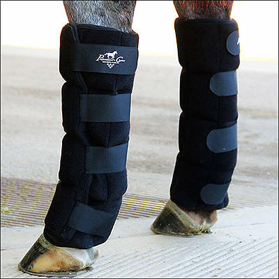 3X5 Standard Size Professional Choice Neoprene Horse Ice Boot Black