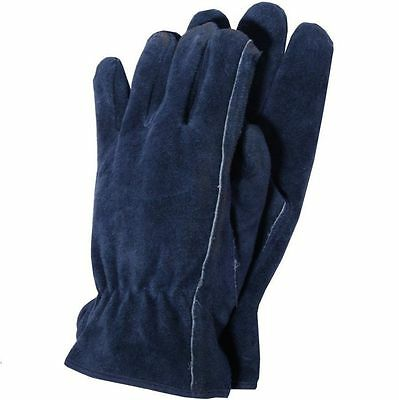 Town and Country Premium Suede Gardening Gloves-Navy Large Size TGL407L