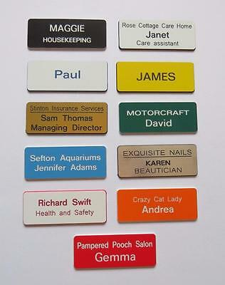 Personalised Engraved Name Badges, shops clubs pub schools offices work