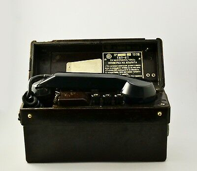 Vintage Military TAP-67 Field Phone Army telephone TAP-67 Bakelite Box