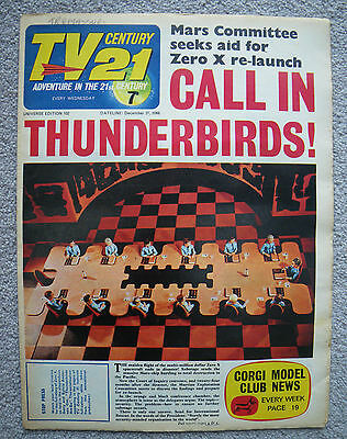 TV CENTURY 21 COMIC ISSUE No 102~DATED DECEMBER 31st 1966~THUNDERBIRDS ETC