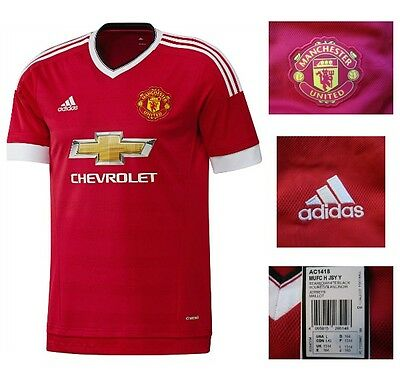 Manchester United FC Home Football Shirt Boys adidas Junior Top 13/14 Years NEW