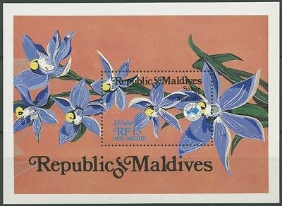 Maldive Islands 1984 Ausipex. Orchids MS MNH