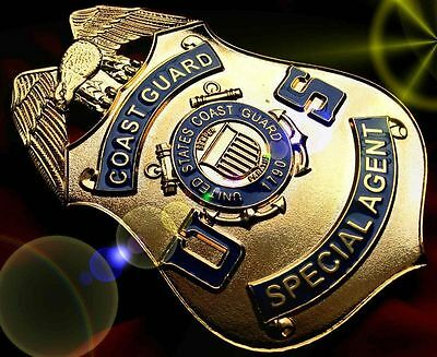 Special Agent Coast Guard 1790...USA COLLECTOR'S POLICE BADGE