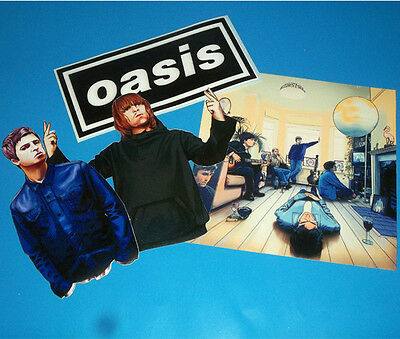 Oasis Sticker Set Noel Liam Gallagher