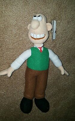 Wallace And Gromit Plush Stuffed Toy Doll 15""