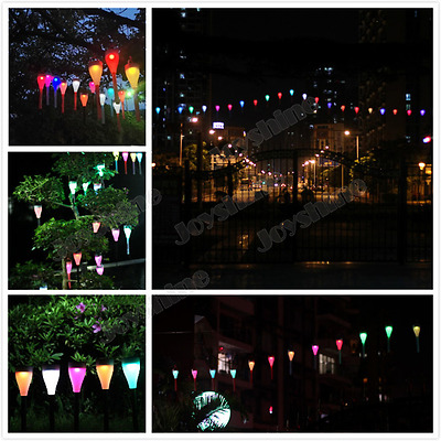 Solar LED 7 Colors Cyclic Light ip55 Lawn Lamp Decorative for Garden Courtyard