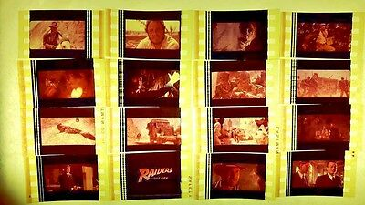 RAIDERS OF THE LOST ARK film cell lot of 12 - complements movie dvd poster