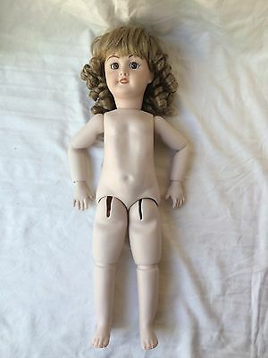 """Beautiful 21"""" Unis France 301 Bisque Doll in Original Clothes 71 149"""