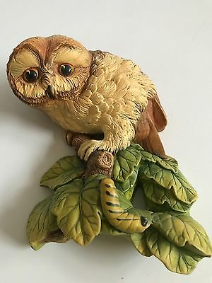 Bossons Chalkware Wall Plaque Of An Owl On A Branch