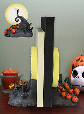 NECA Nightmare Before Christmas SPIRAL HILL BOOKENDS NBX Gift book ends Jack