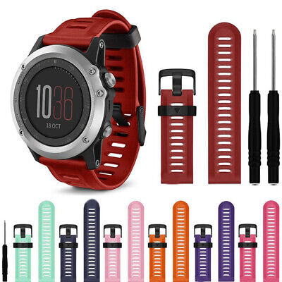 Replacement Silicone Smart Watch Band Wrist Based Strap For Garmin Fenix 3 HR 5X