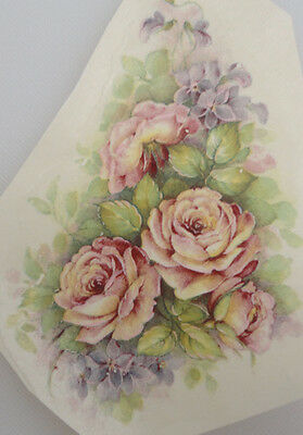 Ceramic Waterslide Decal   12 x 8cm     CHINA ROSE (3 pieces)
