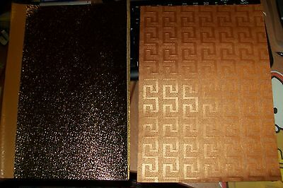 2X Beautiful Patterned Paper Size A4/21X30 Cm (A59) Other Side Brown/white  New