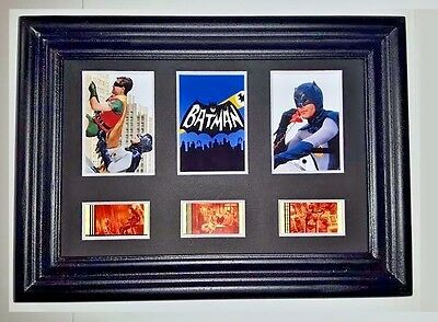 BATMAN TOS Framed Trio Movie Film Cell Memorabilia - Complements dvd poster TV
