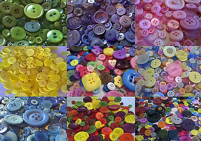 Heidifeathers® Mixed Buttons, Large + Small Buttons, Craft + Sewing Many Colours