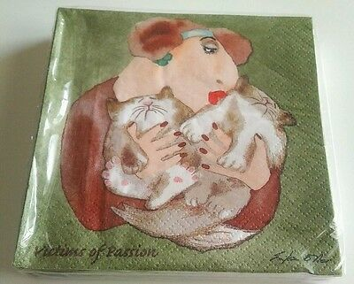 Victims Of Passion Napkins Erika Oller, 1999 Ed. Erika Oller's Cats