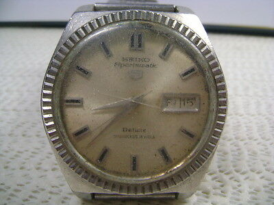 Vintage 7019-9040 Sportsmatic Deluxe Automatic Watch For Parts Or Project Watch
