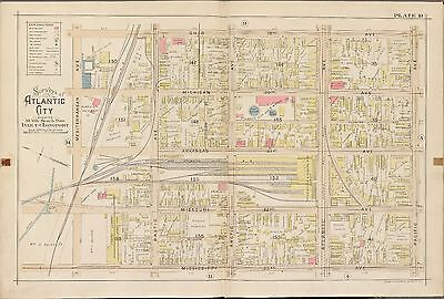 1896 New Jersey Atlantic City Gas & Water Co. Mediterranean-Pacific Av Atlas Map