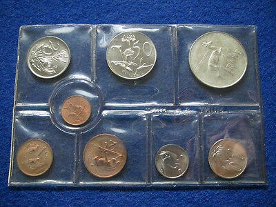 1971 South Africa 8 Coin Mint Set - Silver Rand - Free U S Shipping
