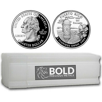 2009-S Silver Proof Territories Quarter Roll (40 Coins) - PUERTO RICO