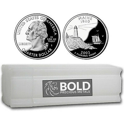 2003-S Silver Proof State Quarter Roll (40 Coins) - MAINE