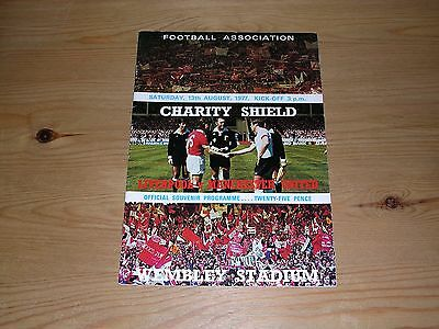 1977 F.A.CHARITY SHIELD  LIVERPOOL v MANCHESTER UNITED  13/08/1977