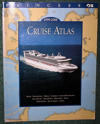 Booklet PRINCESS CRUISE ATLAS 1999-2000 Brochure Liner Ship Timetable Calendar
