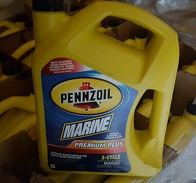 Pennzoil Premium Plus Outboard 2-Cycle Marine Engine Oil -  Gallon Syn Blend