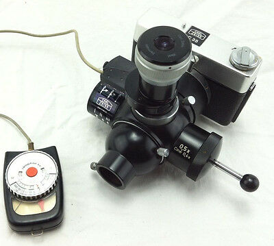 CARL ZEISS C35 Camera with Zeiss 0,5X Cine 0,4X for microscope, with Ikophot M