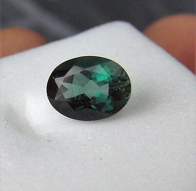 1.00cts GREEN ANDESINE LABRADORITE OVAL cut 8 mm by 6 mm GEMSTONE CONGO AFRICA