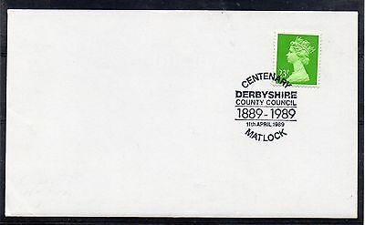 GB = 1989 `Centenary MATLOCK, Derbyshire Council` Special cancel. Unaddressed.