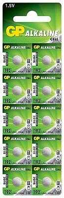 10 x GP Quality Long Date Button Cell 192 LR41 AG3 392 SR41 Batteries