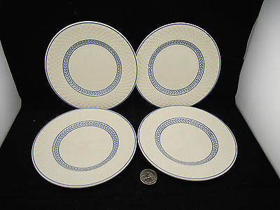 """4 Spode Mansard 6"""" Plates Early Back Stamps"""