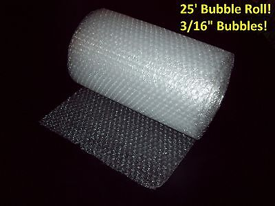 "25 Foot Bubble Wrap® Roll! 3/16"" (Small) Bubbles! 12"" Wide! Perforated Every 12"""