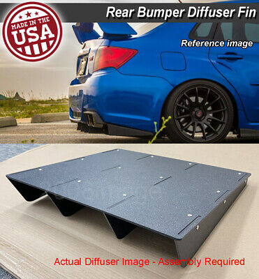 "22"" x 21"" ABS Universal Rear Bumper 4 Fins Diffuser Fin Canards Black For Chevy"