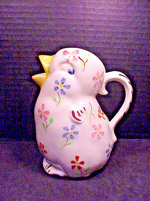 Blue Ridge China Southern Potteries Chick Pitcher Creamer Jug Hand Painted