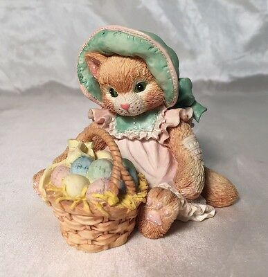 """Adorable Calico Kittens """"Easter Wishes Coming Your Way"""" Cat Figurine #623571"""