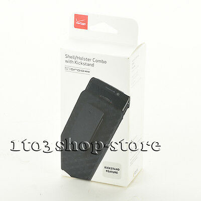 Verizon Shell Holster Combo Cover Case w/Kickstand for Motorola DROID MINI Black