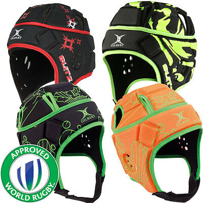 Boys Gilbert Attack Blitz World Rugby Union Approved Protective Headguard